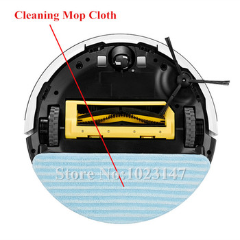 3x Cleaning Mop Cloth + 5x Side Brush kit + 1x Agitator Brush + 2x Srew for Chuwi ilife v7 Robotic Vacuum Cleaner
