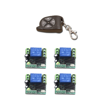 Special Offer New Product DC12V Mini 1CH RF Wireless Remote Control Switch System 4pcs Receiver+1pcs Remote Control Transmitter