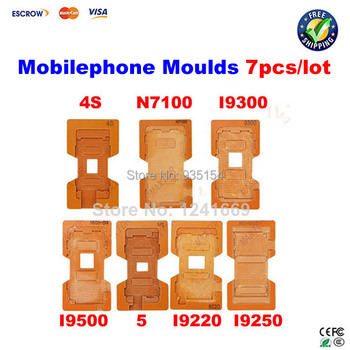 7 pcs screen Mould Molds for cellphone of LCD Touch Screen Separator for Samsung/Iphone/HTC/Nokia, lcd separator tool
