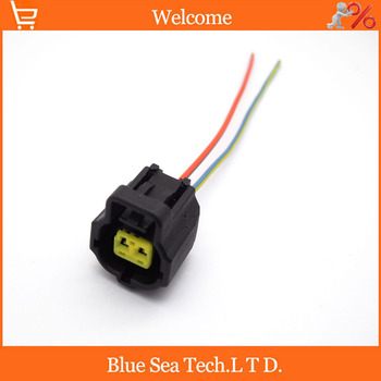 Sample,2 PCS 2Pin 1.8mm car connector,Engine water Temp sensor plug,Car Engine Electrical plug with cable for Toyota,Honda