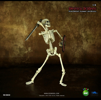 Skeleton Soldiers SK02 1/6 Scale Action FigureWith Sword And Shield Human Skeleton Model Toys