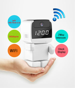 960P 360 Degree Mini Robot Wifi Wireless P2P Network IP Camera LED Light Home Surveillance Security System For IOS Android
