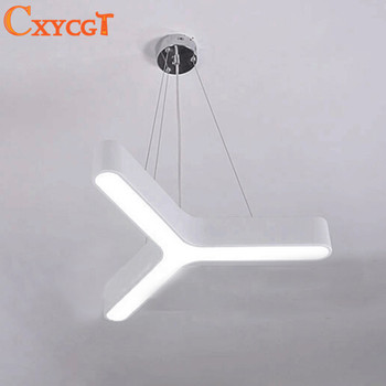 Modern LED Pendant Light Fixture Triangle LED Suspension Light for Dinning Room, Bedroom, Office