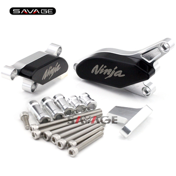 For KAWASAKI NINJA ZX-10R ZX10R 2008 2009 2010 Motorcycle Engine Case Guard Cover Frame Slider Crash Protector Set Silver