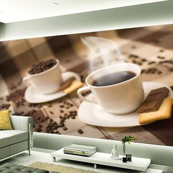 Custom any size 3D wall mural wallpapers ,Personality Coffee cup photo wallpaper murals for living room bedroom sofa background