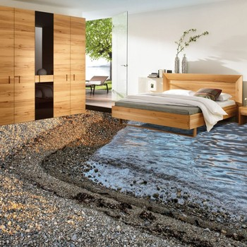 Cobblestone Crest 3D Living Room Bathroom Flooring waterproof non-slip bedroom study coffee house flooring mural