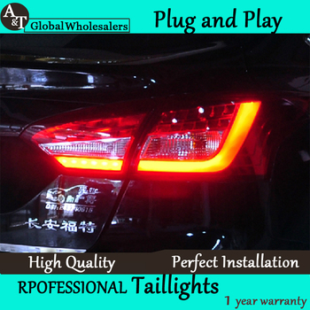 A&T Car Styling for Ford Focus 3 Taillights 2012- Focus Sedan LED Tail Light Rear Lamp DRL+Brake+Park+Signal