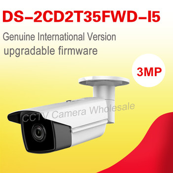 English version DS-2CD2T35FWD-I5 3MP Network Ultra-Low Light Bullet CCTV camera POE sd card, 50m IR , H.165+