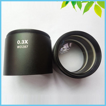 0.3X WD287 Auxiliary Lens Objective Lens For Stereo Microscope Parts Accessories