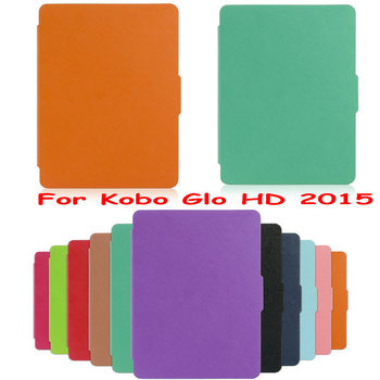 Kobo Glo HD Ultra thin Protective Case Leather Cover Case funda for Kobo Glo HD () with Auto Wake Sleep 50pcs