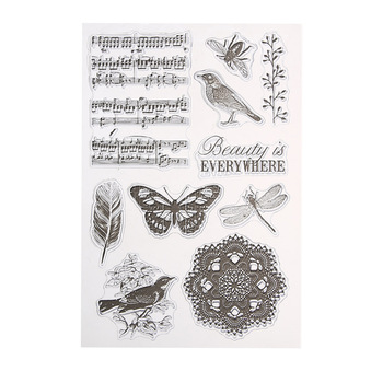 Romantic Vintage Transparent Rubber Clear Stamp DIY Silicone Seals Scrapbooking Card Sheet Craft Unique Clear Stamp