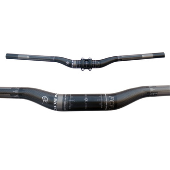 Sales FCFB FW carbon handlebar black grey kit MTB mountain rise handlebar + alu stem + seatpost road bike