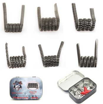 10pcs Original Demon Killer Wire Alien V2 Coil Tsuka Coil Kanthal A1 0.25ohm Violence Coil Head For RDA RTA E Cig Perbuild Coil