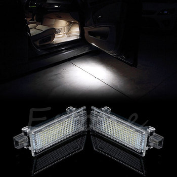 1Pair For BMW E90 M3 E92 E60 M6 E70 X5 2x Error Free Red White Led Courtesy Door Light