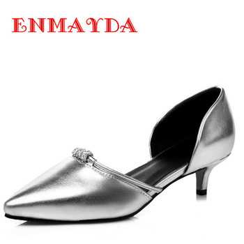 ENMAYDA Slip-on Summer Punmps Size 34-47 Pointed Toe 5 Colors Luxury Shoes Woman Pointed Toe Summer Pumps Sandals Shoes