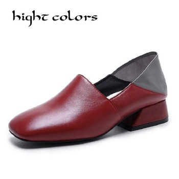 Fashion Two Wear Low Heel Women's Pumps Female Spring Black Yellow Casual Shoes Summer Slippers Ladies Loafers Brand Designer