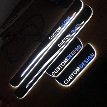 COOL!!! LED custom-made acrylic dynamic moving Sports Door Sill Scuff Plate Guard Sills For Subaru Forester STI