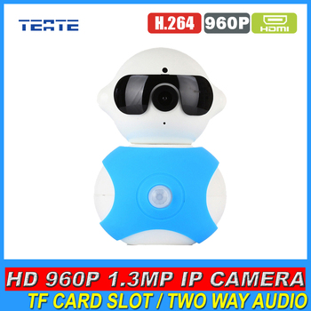 Wireless IP Camera 960P 1.3MP HD Megapixel P2P Plug Play Pan/Tilt With Two Way Audio TF Micro SD Card Slot for Baby