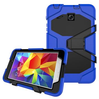 For Samsung Galaxy Tab E 8.0 T377 SM-T377V Case Cover Kids Safe Armor Shockproof Heavy Duty Silicone PC Tablet Stand Cases