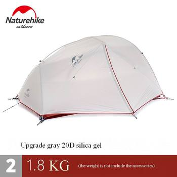 2 Person Nylon Silicone Coating Double Layer Waterproof PU4000 Hiking Tent Aluminum Rod Portable Mountain Single Tents UV40+