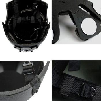 Military Tactical Airsoftsports Wargame IBH Helmet with WILCOX Night Vision Mount