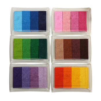 Multi Colors Rubber Stamp Ink Pads Oil Based Paper Wood Craft Fabric DIY Scrapbooking Decor Wedding Supplies New