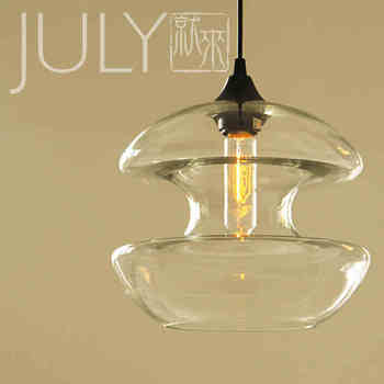 Modern curve modeling creative personality glass crystal S pendant lamp coffee shop Clothing store lamps and lanterns
