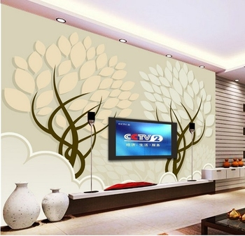 Modern minimalist fashion and elegant living room wallpaper tree abstract background wall mural wallpaper