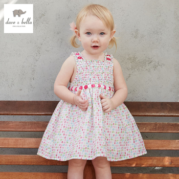 DB3294-A dave bella summer baby girl princess dress baby cute colorful dress kids birthday clothes dress