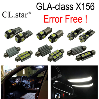 15pc X Canbus LED interior dome light lamp Kit package For Mercedes Benz GLA class X156 GLA200 GLA250 GLA45 AMG (2013+)