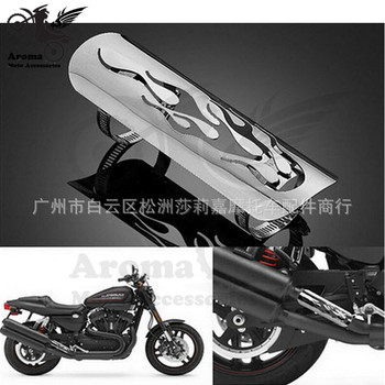 Retro motorbike Exhaust Muffler Pipe protect Flame Hollow motorcycle Exhaust Pipe Heat Shield Cover Heel Guards for harley moto