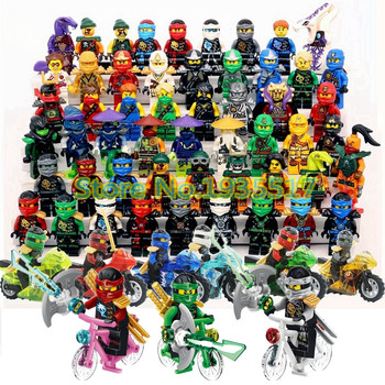Ninja Kai JAY Lloyd Skylor Wrayth Master Chen Motorcycle Bicycle Building Blocks Brick Educational Toys for Kids