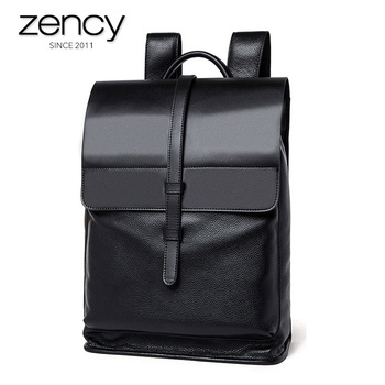 2017 Men High Capacity Backpacks Genuine Leather Fashion Travel Bags Men's Business Laptop Packs