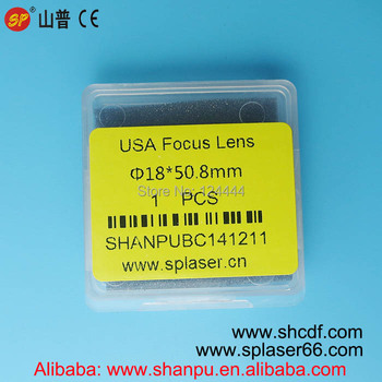 Top quality USA laser focus lens 18mm diameter focal length 50.8mm for Co2 laser stamp engraving machines
