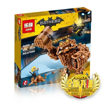 Lepin 07050 Batman Movie Series The Rock Clayface Splat Attack Building Blocks Bricks Education Toys for Children Gift