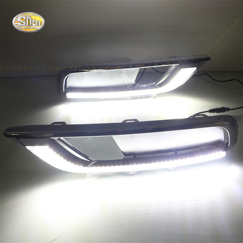 SNCN Daytime Running Light for Honda CR-V CRV 2016 LED DRL ABS fog lamp cover Driving lights