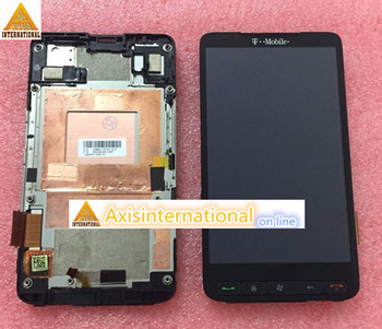 Lcd screen Display+Touch panel digitizer with frame For HTC HD2 T8585 T-MOBLIE black color