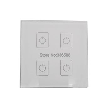LTECH DA4 Wall Mount Touch Panel 4CH 4 Channel Control On/Off Switch Dimmer LED Controller DALI Series for LED Light AC220V
