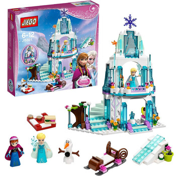 Dream Princess Elsa's Ice Castle Princess Anna Olaf Set Model Building Blocks Gifts Toys Compatible lepin Friends