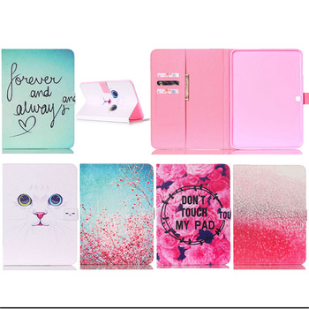 T530 Case Print Design Flip PU Leather case Cover For Samsung Galaxy Tab 4 10.1T530 T531T535 tablet with card slots Y3D25D