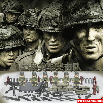 American forces strike team Band of Brothers building block World War II army soliders bricks weapons compatible toy