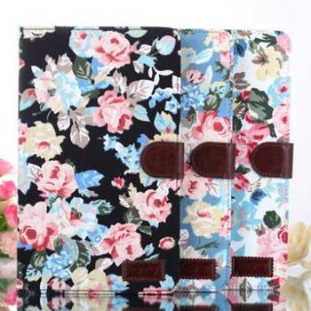 Fashion Floral Print Pattern Leather Case Book Cover for Samsung Galaxy Tab Pro 8.4 T320 Wallet Stand Tablet Case with Card Slot