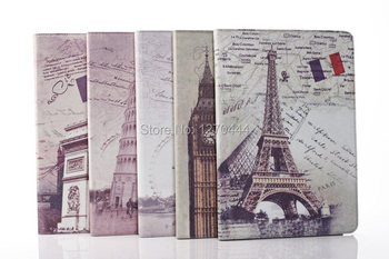 Retro Style World-famous Architectures Stand Flip Cover Case for Samsung Galaxy Note Tab Pro 12.2 P900 +Pen as a gift
