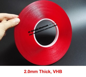 2.0mm Thick, (10mm~40mm wide Choose*16 meters) VHB Clear Foam Double Sided Adhesive Acrylic Tape for Acrylic Panel, Glass, Joint