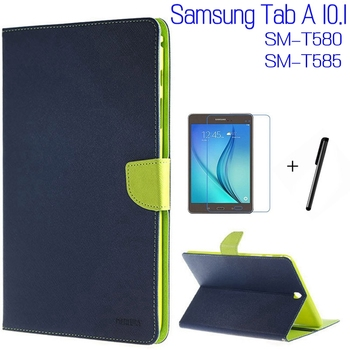3 in 1 Fashion Stand Smart PU Leather Cover For Samsung Galaxy Tab A T580 T585 T580N 10.1