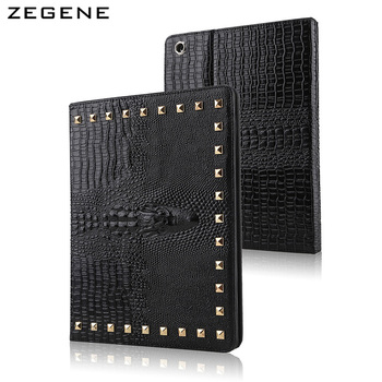 For ipad air2/ipad 6 case crocodile pattern case rivet tablet protection shell fashionable waterproof protective cover