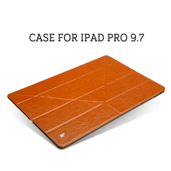 Jisoncase for iPad Pro 9.7 Case Front PU Leather+Hard PC Back for iPad Pro 9.7 Smart Cover Stand Luxury Brand Covers & Cases