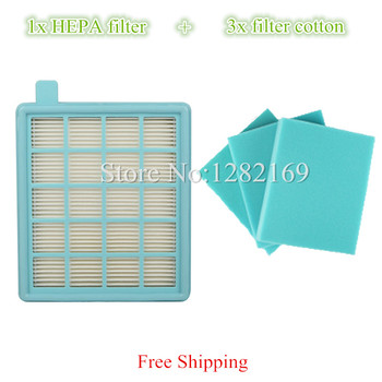 1x Vacuum Cleaner HEPA Filter and 3x Filter Cotton replacement For Philips FC8477 FC8470 FC8471 FC8472 FC8473 FC8474 FC8476