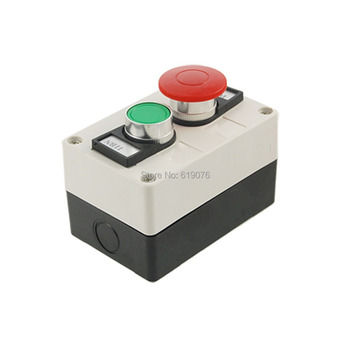 Red Mushroom Green Round Flat Head Momentary Switch Push Button Station