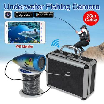 BOBLOV 20M Fish Finder Underwater Fishing Camera 2.4G WIFI Wireless Monitor Waterproof